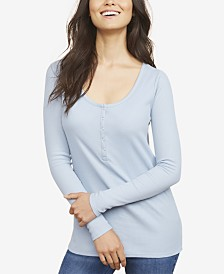 Motherhood Maternity Nursing Henley Shirt