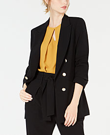 Bar III Faux-Double-Breasted Jacket, Created for Macy's