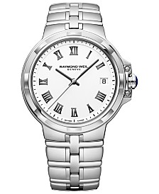 RAYMOND WEIL Men's Swiss Parsifal Stainless Steel Bracelet Watch 41mm