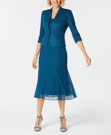 Alex Evenings Glitter Jacket & A-Line Dress