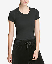 DKNY Sport Embroidered-Logo T-Shirt