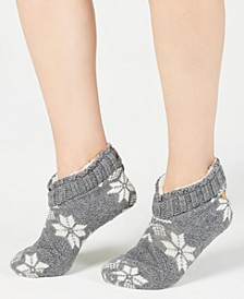 Snowflake Cable Bootie Slippers