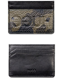 Hugo Boss Men's Victorian Camouflage Leather Card Case