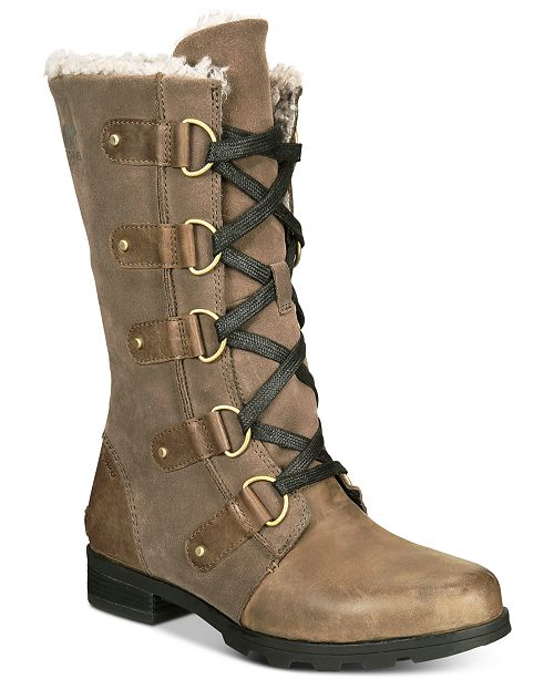 Sorel Women s Emelie Lace-Up Waterproof Boots - Boots - Shoes - Macy s b83322bc2