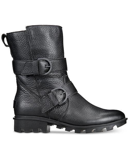e5e26caf39d Sorel Women s Phoenix Moto Boots   Reviews - Boots - Shoes - Macy s