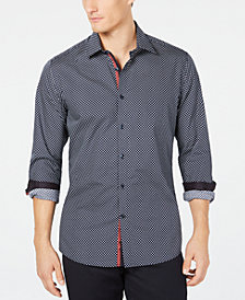 Ryan Seacrest Distinction™ Men's Woven Geometric Shirt, Created for Macy's