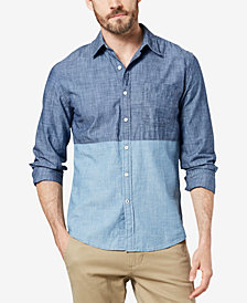 Dockers® Men's Slim-Fit Color-block Chambray Shirt