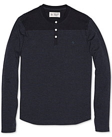 Original Penguin Men's Slim-Fit Henley Sweater