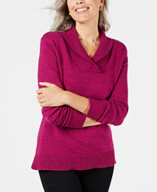 Karen Scott Shawl-Collar Sweater, Created for Macy's