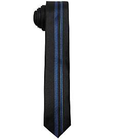 DKNY Big Boys Blue Center Striped Necktie
