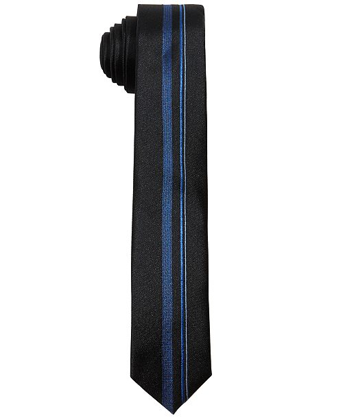 DKNY Big Boys Blue Center Striped Necktie