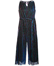 Sequin Hearts Big Girls Pleated Metallic Jumpsuit