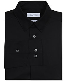 Calvin Klein Big Boys Solid Stretch Poplin Shirt