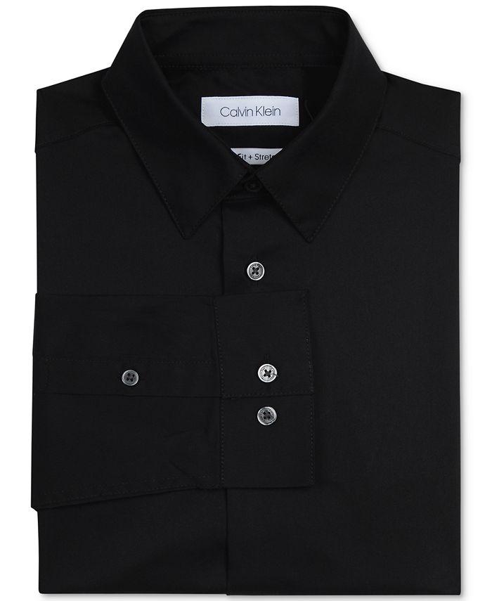 Calvin Klein - Big Boys Solid Stretch Poplin Shirt