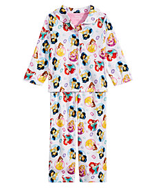 Disney Toddler Girls 2-Pc. Princesses-Print Pajama Set