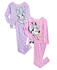 Minnie Mouse Toddler & Little Girls 4-Pc. Cotton Pajama Set