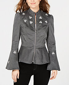 I.N.C. Embellished Peplum Jacket, Created for Macy's