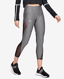 Under Armour HeatGear® Mesh-Trimmed Leggings