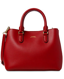 Lauren Ralph Lauren Dryden Marcy II Leather Satchel