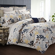 Tribeca Living Barcelona 12-Pc. Cotton California King Comforter Set
