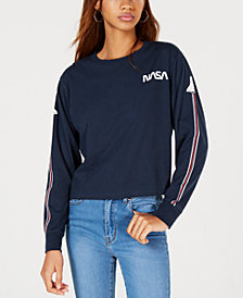 Mighty Fine Juniors' NASA Graphic-Print T-Shirt