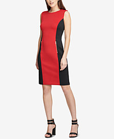 DKNY Colorblocked Sheath Dress, Created for Macy's