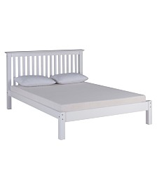 Alaterre Furniture Barcelona Queen Bed, White