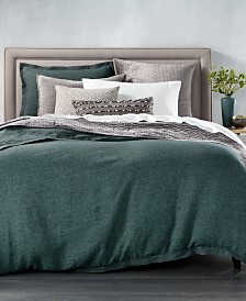 CLOSEOUT! Hotel Collection Linen Full/Queen Duvet Cover, Created for Macy's