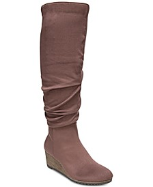 Central Wide-Calf Wedge Boots