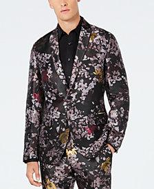 INC Men's Slim-Fit Metallic Floral Burst Blazer, Created for Macy's