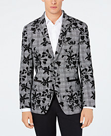 I.N.C. Men's Floral Flocked Slim Fit Blazer, Created for Macy's