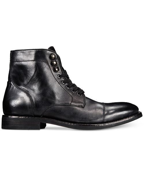 a623ebd2b5e Men's Ben Cap-Toe Leather Lace-Up Boots, Created for Macy's