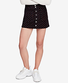 Free People Joanie Printed Corduroy Mini Skirt