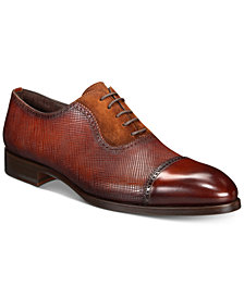 Massimo Emporio Men's Mixed Water Resistant Cap-Toe Oxfords, Created for Macy's