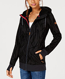 Roxy Juniors' Frost Printed Zip-Up Hoodie Jacket