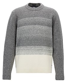 BOSS Men's Knitted Dégradé Sweater