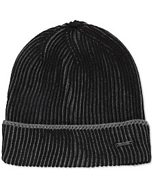 BOSS Men's Knitted Virgin Wool Beanie Hat