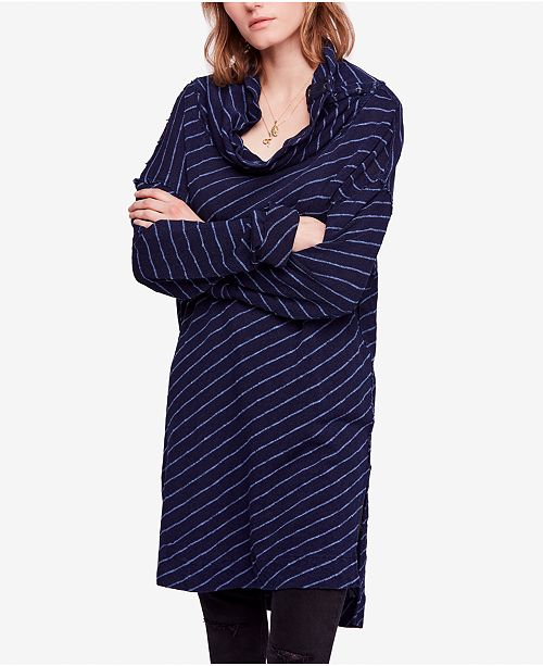 3cb6e2cbbe5ef Free People Gotta Have It Striped Oversized Tunic   Reviews - Tops ...