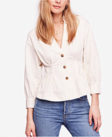 Free People Night Movies Peplum Blouse