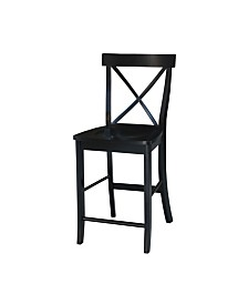 "X-Back Counterheight Stool - 24"" Seat Height"
