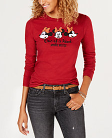 Freeze 24-7 Juniors' Minnie-Mouse-Graphic Cotton T-Shirt