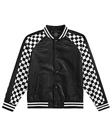 Jaywalker Big Boys Paneled Varsity Jacket