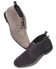 HUGO Men's Boheme Water-Resistant Suede Desert Boots
