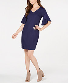 Trina Turk Flutter-Sleeve Shift Dress