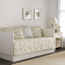 Laura Ashley Joy Grey Lemon Daybed Set
