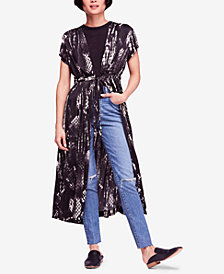 Free People So Long Printed Tie-Waist Robe