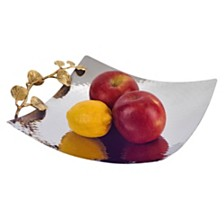 Badash Crystal Petals Stainless Steel and Brass Platter