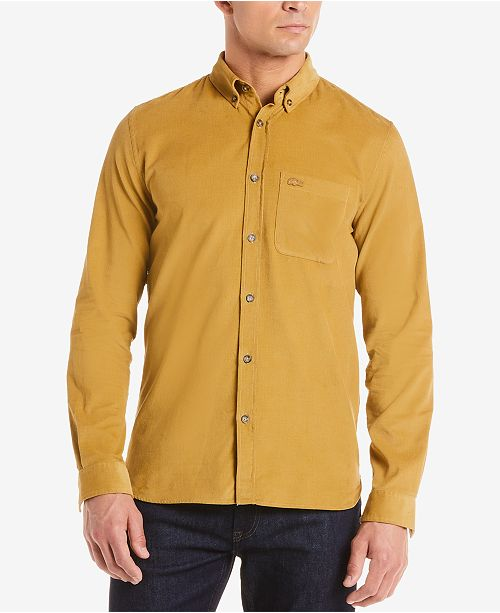 1822df2b22db0 Lacoste Men s Slim-Fit Corduroy Shirt   Reviews - Casual Button-Down ...