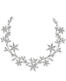 Danori Silver-Tone Crystal Snowflake Hair Garland, Created for Macy's
