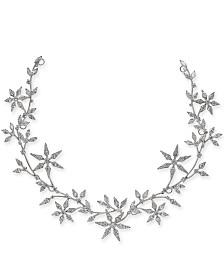 Eliot Danori Silver-Tone Crystal Snowflake Hair Garland, Created for Macy's